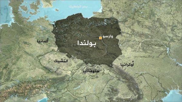 موقع بولندا علي الخريطة