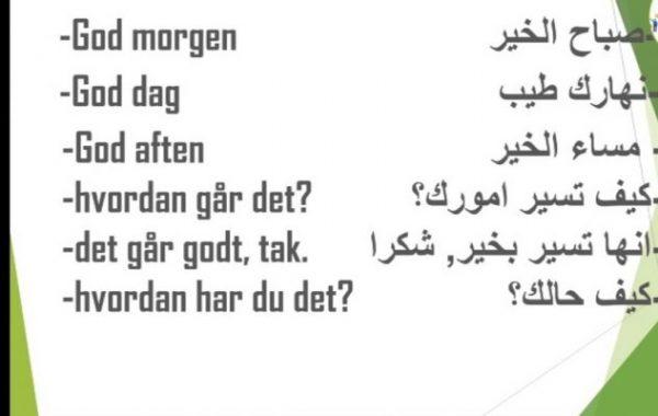 تعلم اللغة الدنماركية