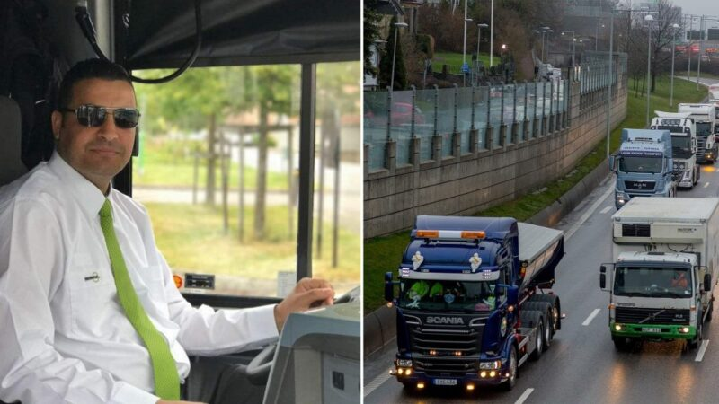 عمل سائق شاحنة في السويد