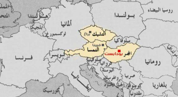 موقع بودابست على الخريطة
