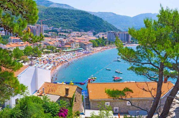 الشواطئ في الجبل الأسود