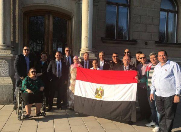 زيارة السفارة المصرية بالسويد