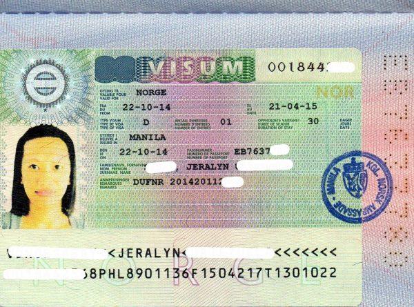 المستندات المطلوبة للتأشيرة