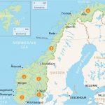 خريطة النرويج السياحية وأهم الأماكن السياحية بها