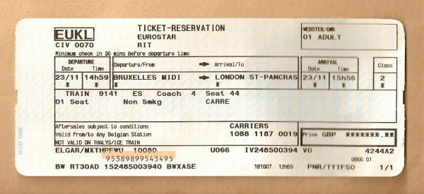 تذكرة قطار يورو ستار