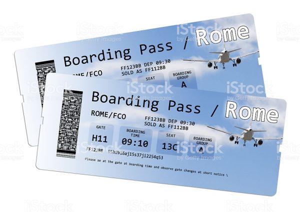 تذكرة طيران