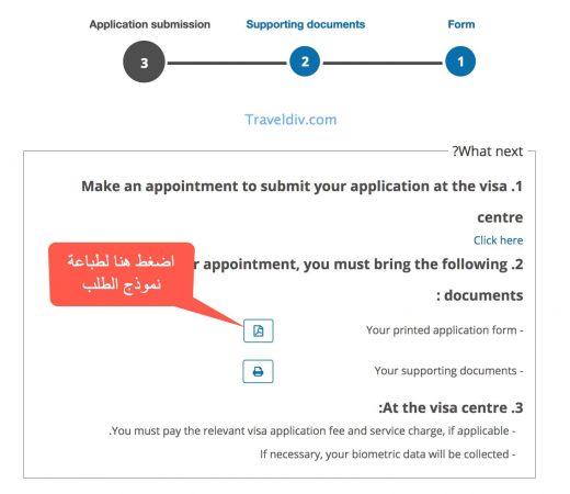 طباعة نموذج طلب الحصول على تأشيرة فرنسا