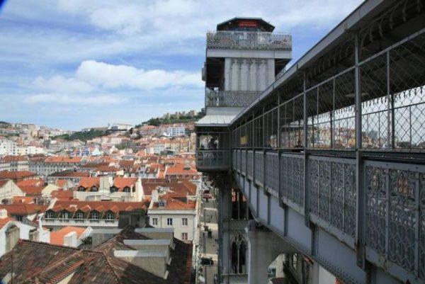مصعد سانتا جوستافي لشبونة