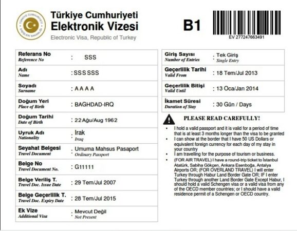 كيفية الحصول على فيزا تركيا الإلكترونية