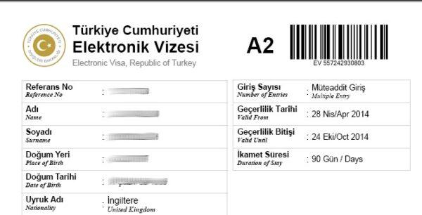 خطوات استراج فيزا تركيا الإلكترونية