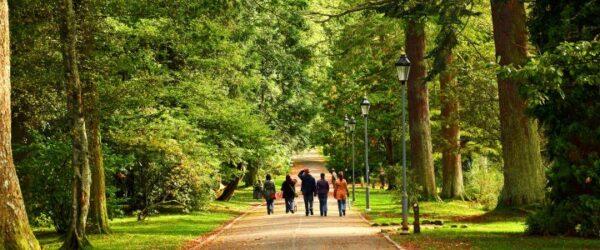 حديقة قلعة البلوش في اسكتلندا